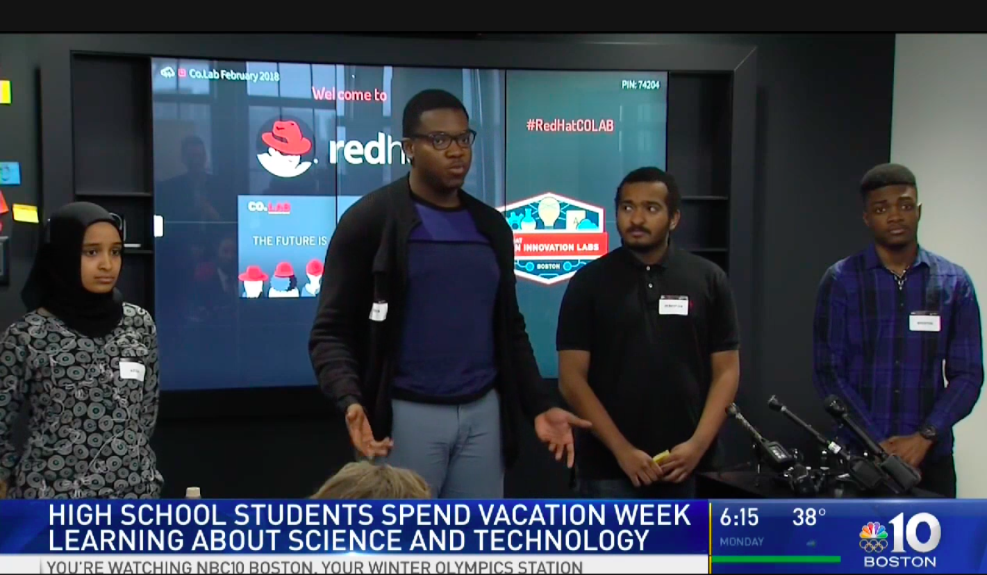 High school students spend vacation learning technology at Red Hat