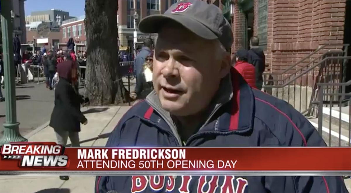 CTP's Fredrickson Makes 50th Straight Red Sox Home Opener