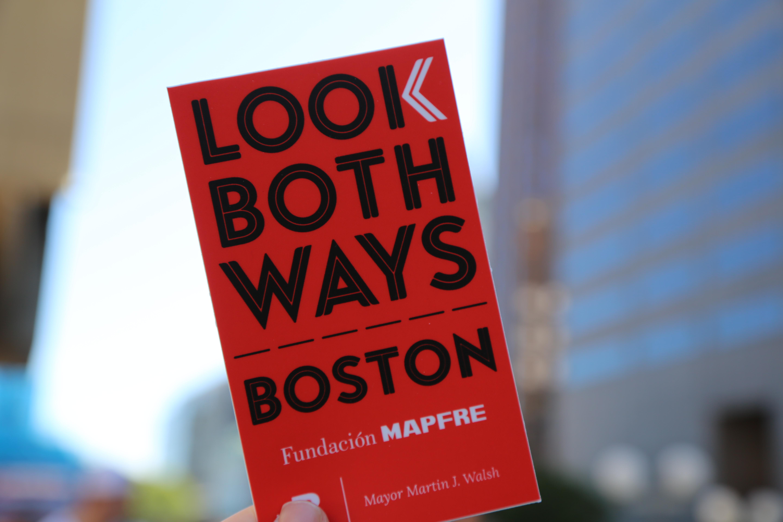 Look Both Ways Boston Sticker