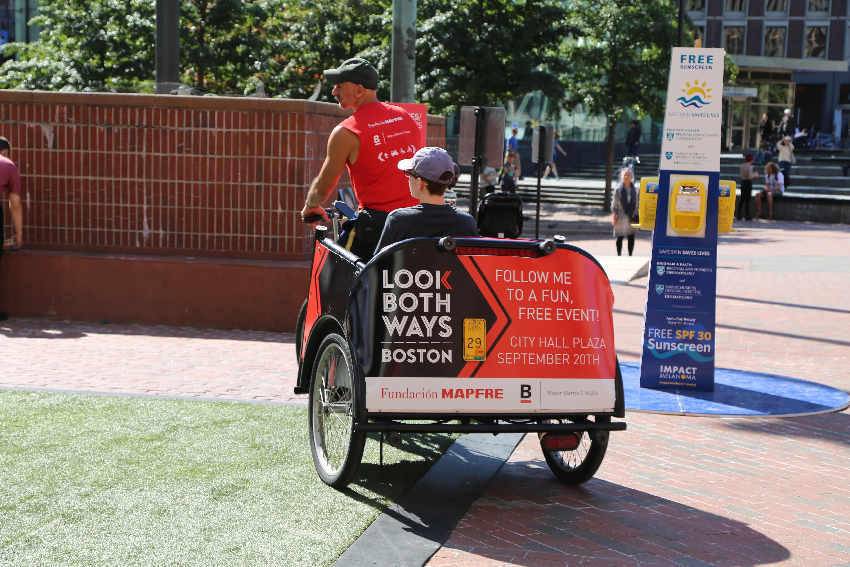 Look Both Ways Boston Wrapped Pedicab