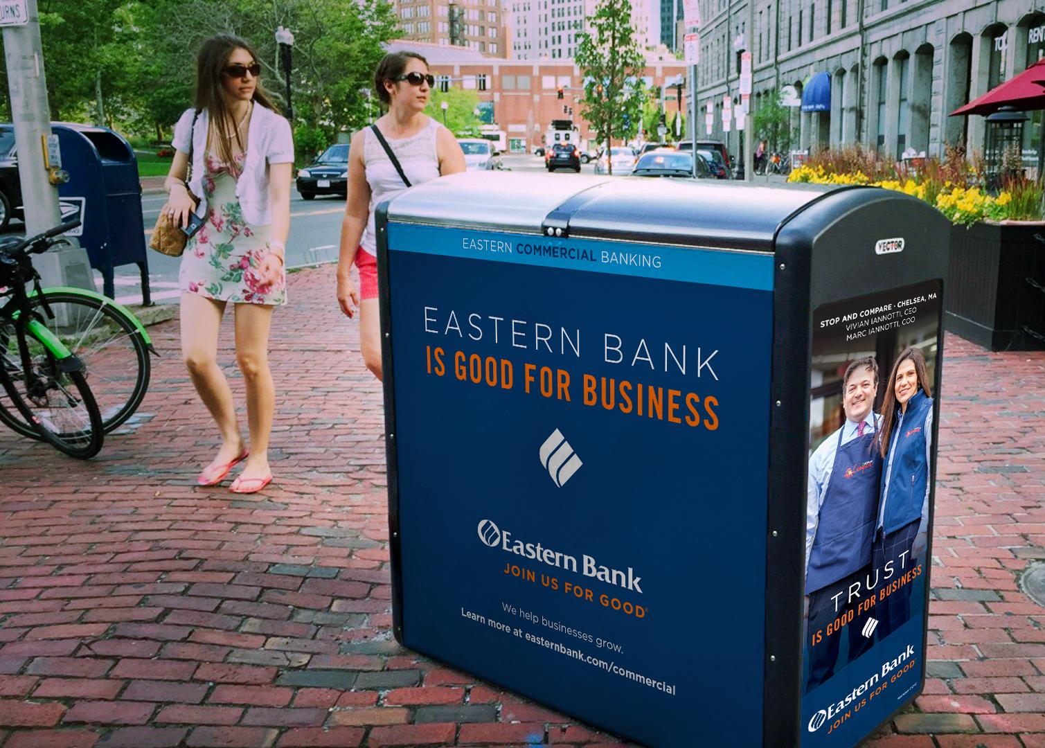 Eastern Bank Solar Recycling Kiosk Ad